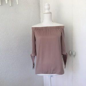 H&M light pink off the shoulder top, sz 2